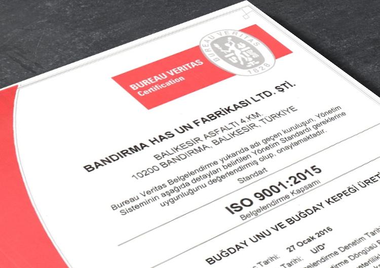 Bandırma Has Un 9001 Sertifikası
